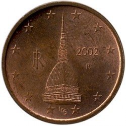 Münze > 2Eurocent, 2002-2019 - Italien  - reverse