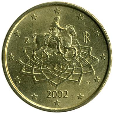 50 Eurocent 2002 2007 Italien Münzen Wert Ucoinnet