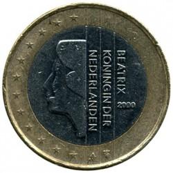 Münze > 1Euro, 1999-2006 - Niederlande  - obverse