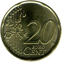 Moeda > 20cêntimosdeeuro, 2002-2007 - Portugal  - obverse