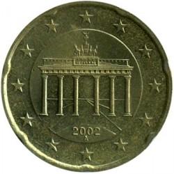 Монета > 20євроцентів, 2002-2006 - Німеччина  - obverse