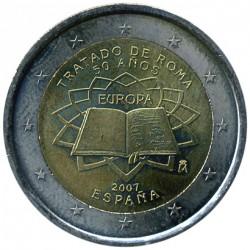 Moneta > 2euro, 2007 - Hiszpania  (50 rocznica - Traktaty rzymskie) - obverse