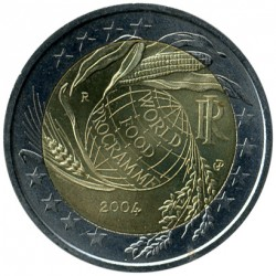 Moneda > 2euros, 2004 - Italia  (50 Aniversario - Programa Mundial de Alimentos) - reverse