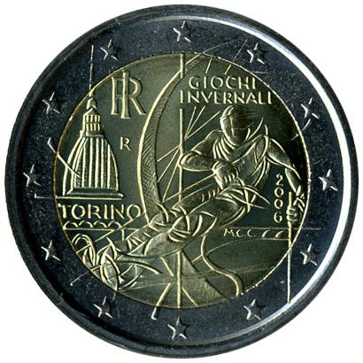 2 Euro 2006 Turin06 Olympic Italien Münzen Wert Ucoinnet