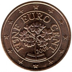Moneda > 5centsd'euro, 2002-2019 - Àustria  - reverse