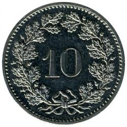 Монета > 10раппен, 1879-2017 - Швейцарія  - reverse