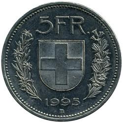 Moneta > 5franków, 1995 - Szwajcaria  - reverse