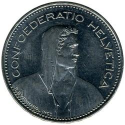 Moneta > 5franków, 1968-2019 - Szwajcaria  - obverse