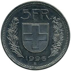 Монета > 5франків, 1968-2017 - Швейцарія  - reverse