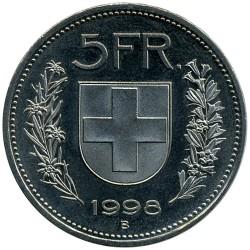 Moneta > 5franków, 1998 - Szwajcaria  - reverse