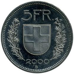 Moneta > 5franków, 2000 - Szwajcaria  - reverse