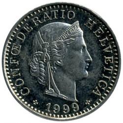 Moneda > 20rappen, 1999 - Suïssa  - obverse