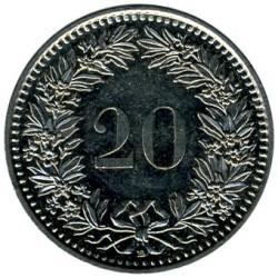 Moneda > 20rappen, 1999 - Suïssa  - reverse
