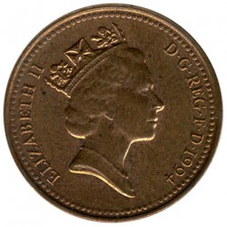 Coin > 1 penny, 1994 - United Kingdom  - obverse
