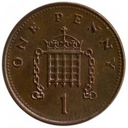 Moneta > 1pensas, 1998-2008 - Jungtinė Karalystė  - reverse