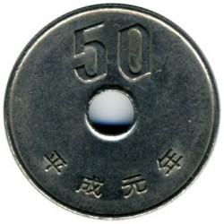 Coin > 50yen, 1989 - Japan  - obverse