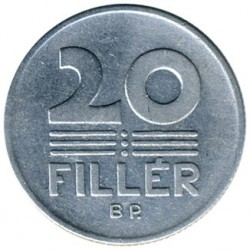 Νόμισμα > 20Φίλερ, 1967-1989 - Ουγγαρία  - obverse