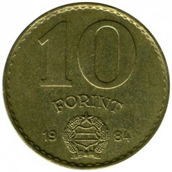 Coin > 10 forint, 1983-1989 - Hungary  - obverse