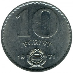 Νόμισμα > 10Φιορίνια, 1971-1982 - Ουγγαρία  - obverse