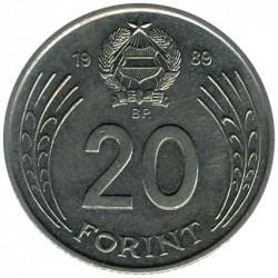 Münze > 20Forint, 1982-1989 - Ungarn  - reverse