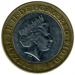 Monēta > 2mārciņas, 1998-2015 - Lielbritānija  - obverse