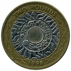 Monēta > 2mārciņas, 1998-2015 - Lielbritānija  - reverse