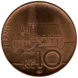 錢幣 > 10克朗, 1993-2018 - 捷克  - reverse