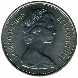 Coin > 10 new pence, 1968 - United Kingdom  - obverse