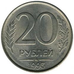 Münze > 20Rubel, 1993 - Russland  (Magnetisch) - obverse