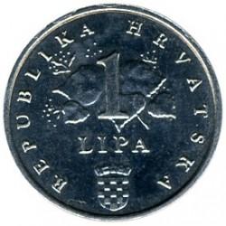 Monedă > 1lipa, 1994-2018 - Croația  - obverse