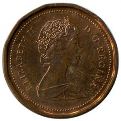 Coin > 1 cent, 1986 - Canada  - obverse