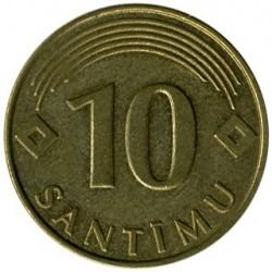 מטבע > 10סנטים, 1992-2008 - לטביה  - reverse