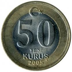 Pièce > 50nouveauxkurus, 2005-2008 - Turquie  - reverse