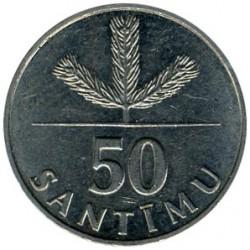 Münze > 50Centimes, 1992-2009 - Lettland   - reverse