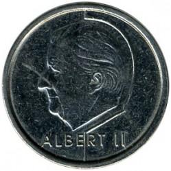 """Minca > 1frank, 1996 - Belgicko  (Nadpis v holandčine - """"BELGIE"""") - obverse"""