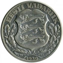Νόμισμα > 2Κρόονι(κορώνες), 1930 - Εσθονία  (Toompea Fortress at Tallinn) - obverse