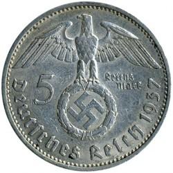 العملة > 5رايخمارك, 1936-1939 - ألمانيا الرايخ الثالث  - obverse