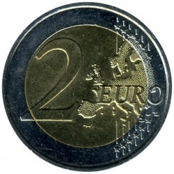 Moneta > 2euro, 2009 - Francia  (10 Anni dell'Unione Economica e Monetaria (EMU) e nascita dell'EURO) - obverse