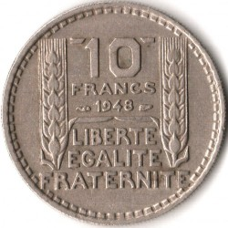 מטבע > 10פרנק, 1947-1949 - צרפת  - reverse