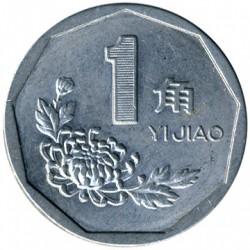 Moneta > 1jiao, 1991-1999 - Kinija  - reverse