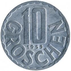 Mynt > 10groschen, 1951-2001 - Østerrike  - reverse