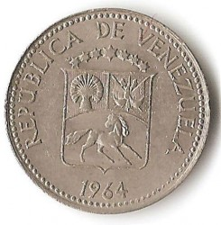 Moneta > 5sentimai, 1958-1971 - Venesuela  - obverse