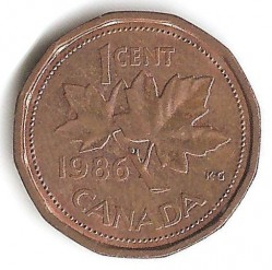 Coin > 1 cent, 1986 - Canada  - reverse
