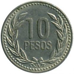 Moneda > 10pesos, 1989-1994 - Colombia  - reverse