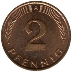 Münze > 2Pfennig, 1991 - Deutschland  - obverse