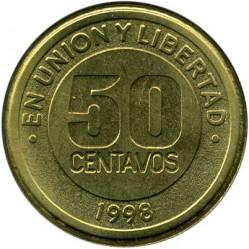 Moneda > 50centavos, 1998 - Argentina  (Mercosur - Mercado Común del Sur) - reverse