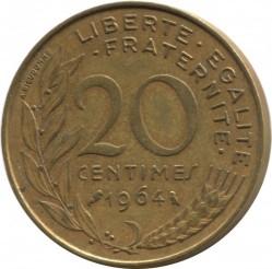 Moneda > 20céntimos, 1962-2001 - Francia  - reverse