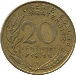 سکه > 20سنتیماس, 1971 - فرانسه  - reverse