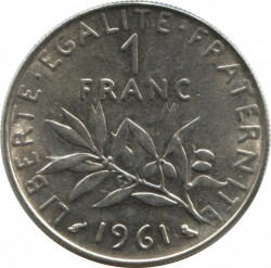 Coin > 1 franc, 1961 - France  - reverse