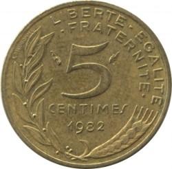 Moneda > 5centimes, 1982 - França  - reverse